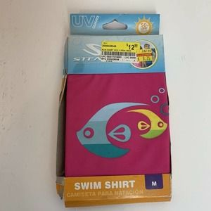 Stearns Toddlers Pink Fish Swim Top